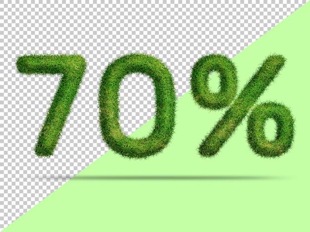 70 por cento com grama 3d realista