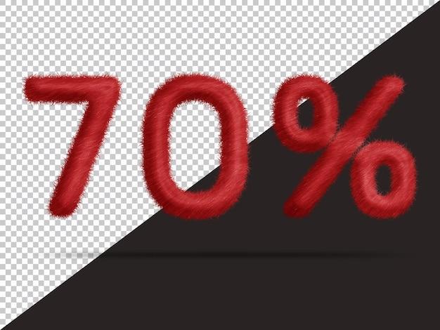 70 por cento com pele 3d realista