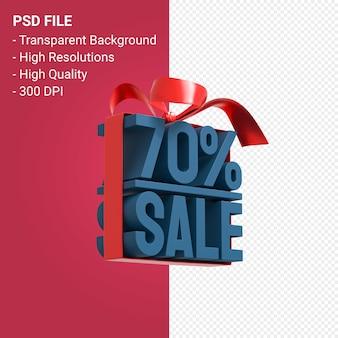 70 venda com arco e fita projeto 3d isolado