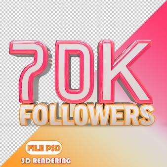 70k seguidores