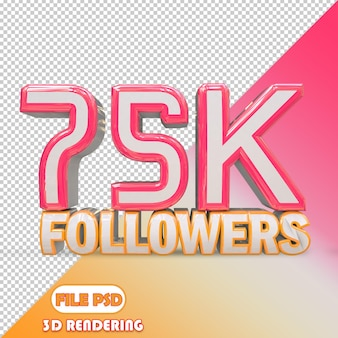 75k seguidores