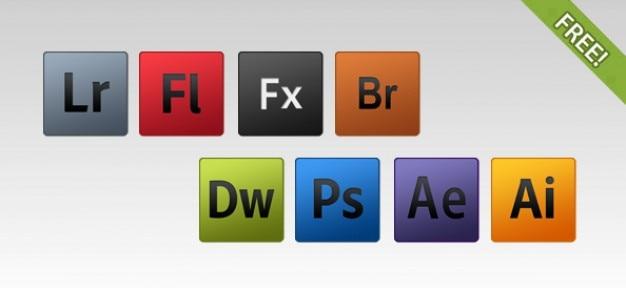 8 ícones produto gratuito adobe