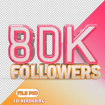 80k seguidores