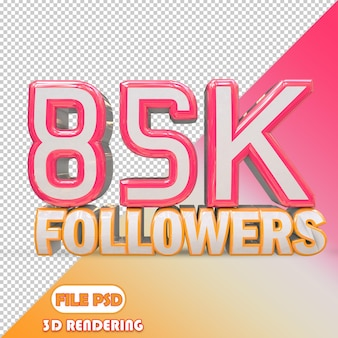 85k seguidores