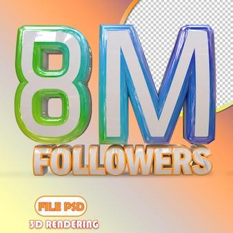 8m seguidores