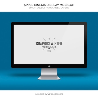 A apple cinema display de maquete