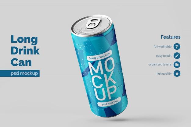 A bebida de alumínio longa esquerda flutuante moderna mutável pode zombar do modelo de design