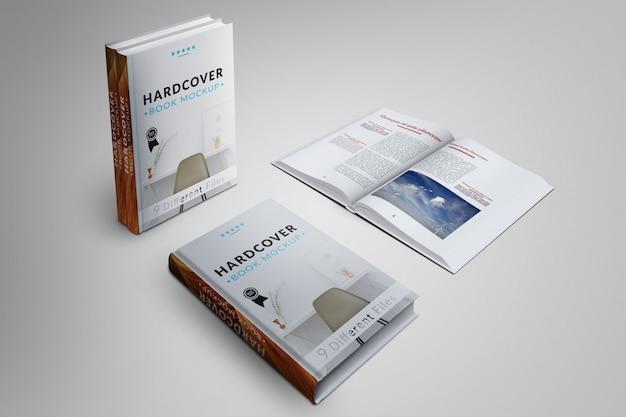 A capa do livro e as páginas se modelam