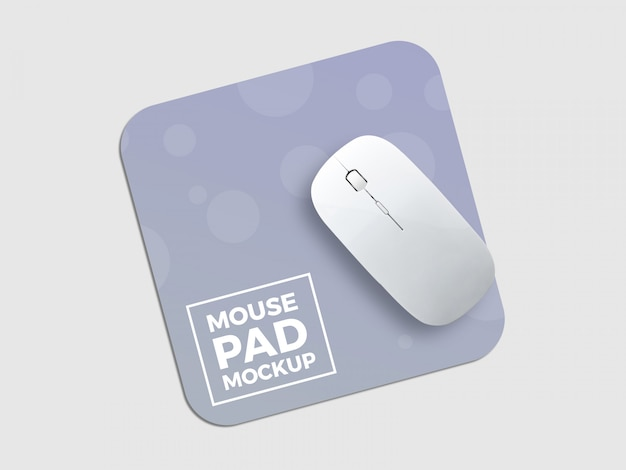 A maquete do mouse pad