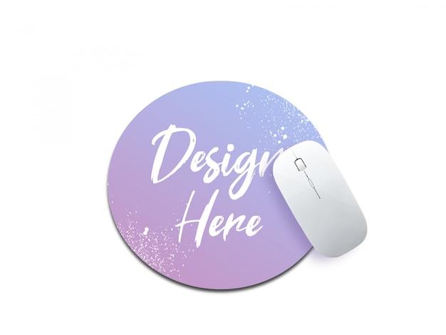 A maquete do mouse pad