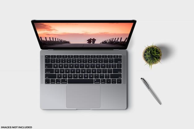 A maquete perfeita e exata para um laptop