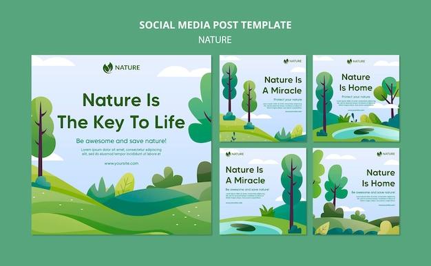 A natureza é a chave da vida nos posts do instagram