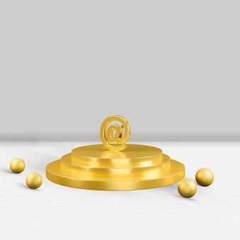 À taxa de renderização do ícone de ouro 3d