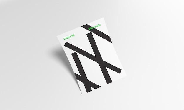 A4 e maquete de carta dos eua