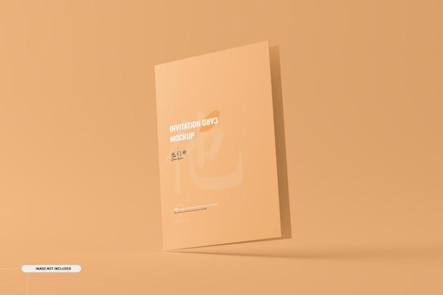 A5 a6 brochura dobrada cartão maquete