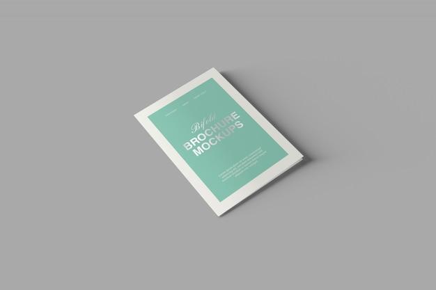 A5 bifold brochura maquete