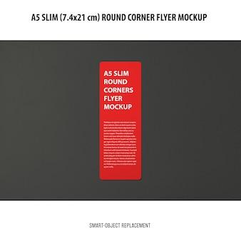 A5 slim flyer mockup