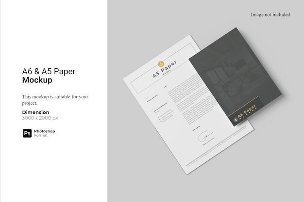 A6 a5 paper mockup