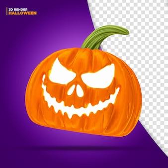 Abóbora de halloween em 3d renderização para composição