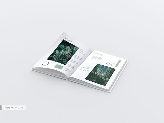 Abra a maquete das páginas do livro