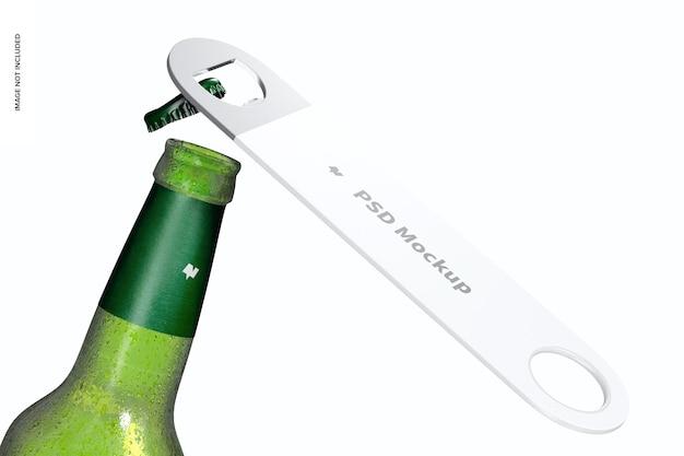 Abridor de garrafas de plástico com maquete de garrafa