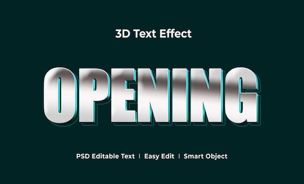 Abrindo modelo de maquete de efeito de texto 3d