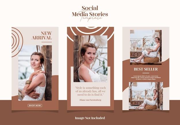 Abstrato moderno e elegante para histórias de mídia social de venda de moda ou modelo de post instagram