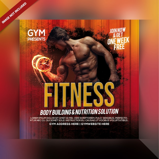 Academia fitness instagram post