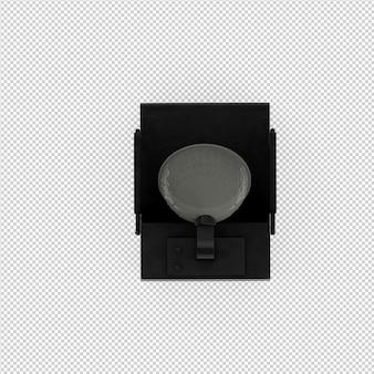 Acessórios de beleza isométrica 3d isolado render