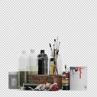 Acessórios de pintura isométrica