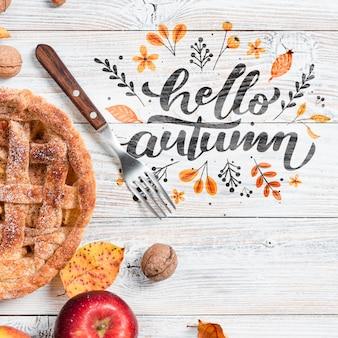 Acima vista arranjo temporada de outono