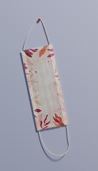 Acima vista máscara com folhas padrão
