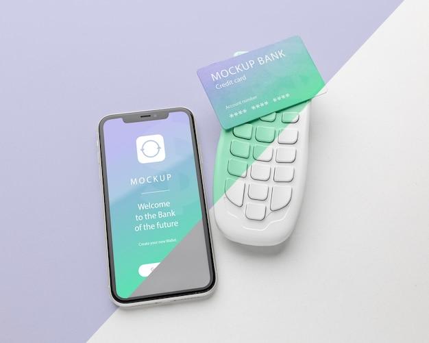 Acordo com maquete de aplicativo de pagamento de smartphone