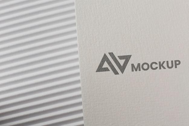 Acordo com modelo de cartão de branding da empresa