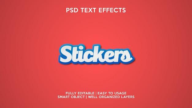 Adesivos efeitos de texto