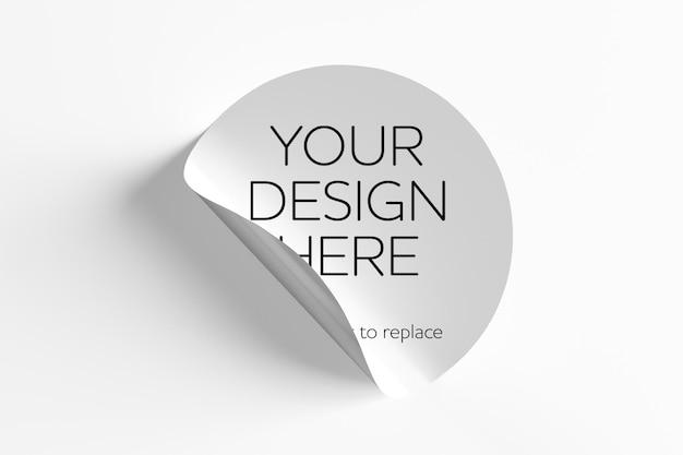 Adesivos simulados em um fundo branco - renderização em 3d