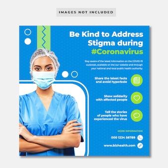 Adivce para banner público sobre coronavírus