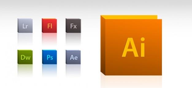 Adobe ícone conjunto
