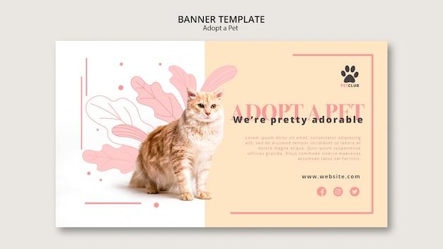 Adote o modelo de banner para animais de estimação