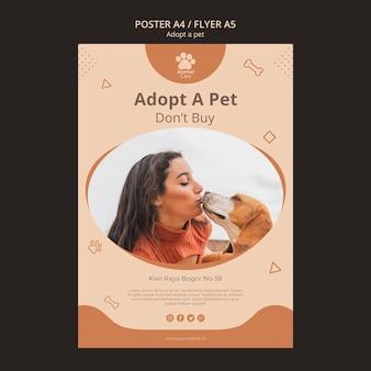 Adote o modelo de cartaz para animais de estimação