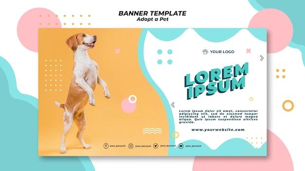 Adote o tema do modelo de banner para animais de estimação