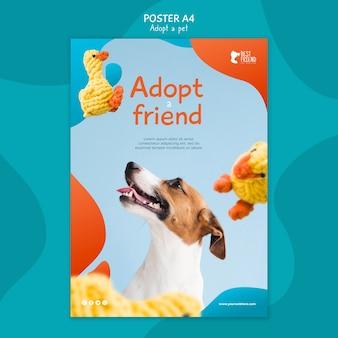 Adote seu modelo de cartaz de melhor amigo
