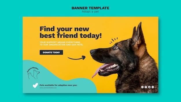 Adote um design de banner para animais de estimação