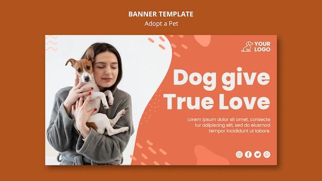 Adote um estilo de modelo de banner para animais de estimação