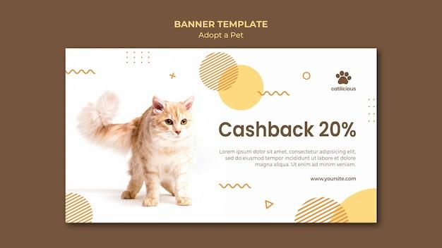 Adote um modelo de design de banner para animais de estimação