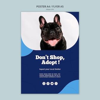 Adote um modelo de folheto - animal de estimação