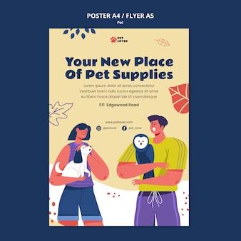 Adote um modelo de pôster de animal de estimação