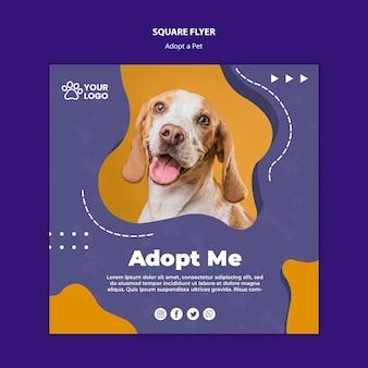 Adote um panfleto para animais de estimação