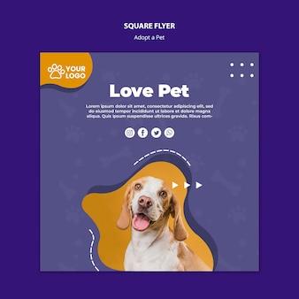 Adote um tema de panfleto para animais de estimação