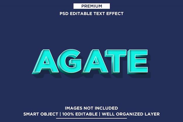 Ágata - modelo de efeito de fonte de estilo de texto 3d psd